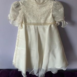 Other - Made in Italy cream toddler dress